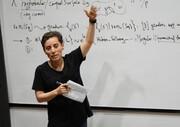 ویدئو | اولین درس کلاس آنلاین ریاضی در نیویورک مریم میرزاخانی است