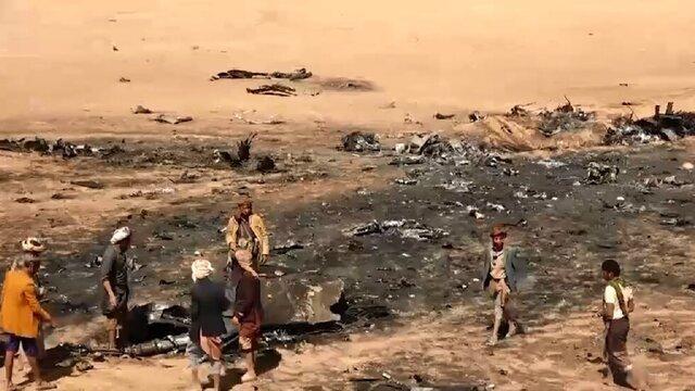 فیلم | لحظه ساقط شدن جنگنده «تورنادو» | اولین تصاویر کادر جنگنده سعودی