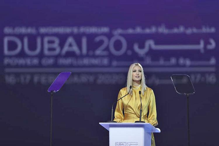 سخنراني ايوانكا ترامپ در دبي