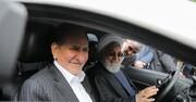 تصاویر | روحانی و جهانگیری در یک خودرو ؛ رئیس جمهور پشت فرمان | رونمایی از چهار خودروی جدید