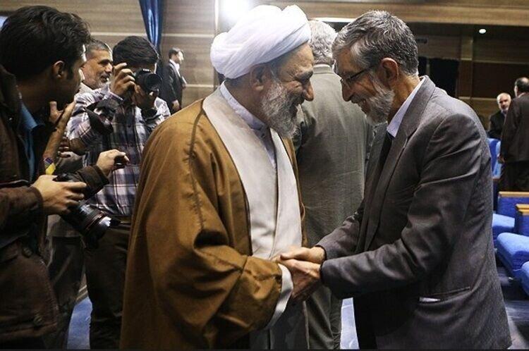 حداد عادل و آقا تهرانی
