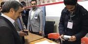 تصاویر | احمدینژاد در محاصره دوربین موبایلها رای داد | احمدینژاد پشت نیمکت مدرسه رای خود را نوشت