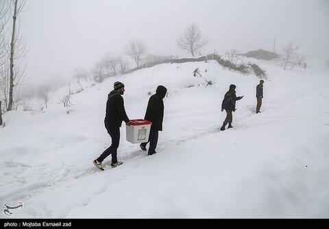 انتخابات در روستاهای برفی ارومیه