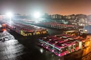 اتوبوسهای همدان هر شب ضدعفونی میشوند