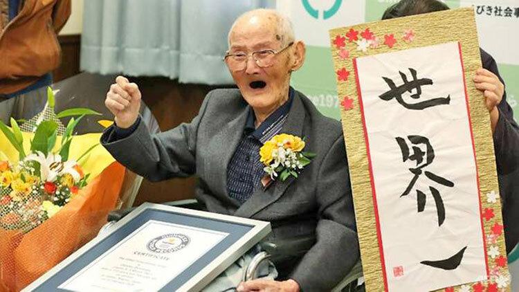 مرگ پيرترين مرد جهان در ژاپن