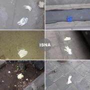 دستکش و ماسک خود را در خیابان نیندازید