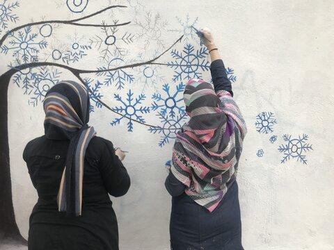 نقاشی دیواری مشارکتی در منطقه۱۳