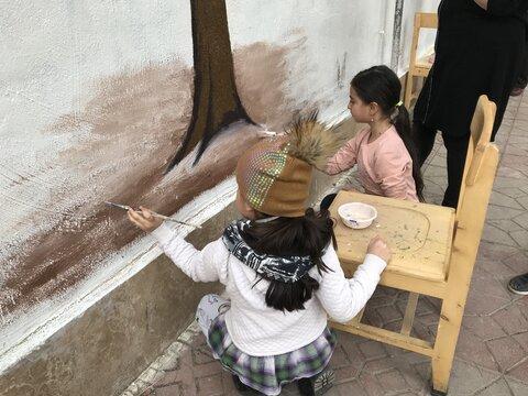 نقاشی مشارکتی شهروندان محله امامت منطقه۱۳