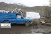 قطار اسبابکشی زلزلهزدگان در قطور