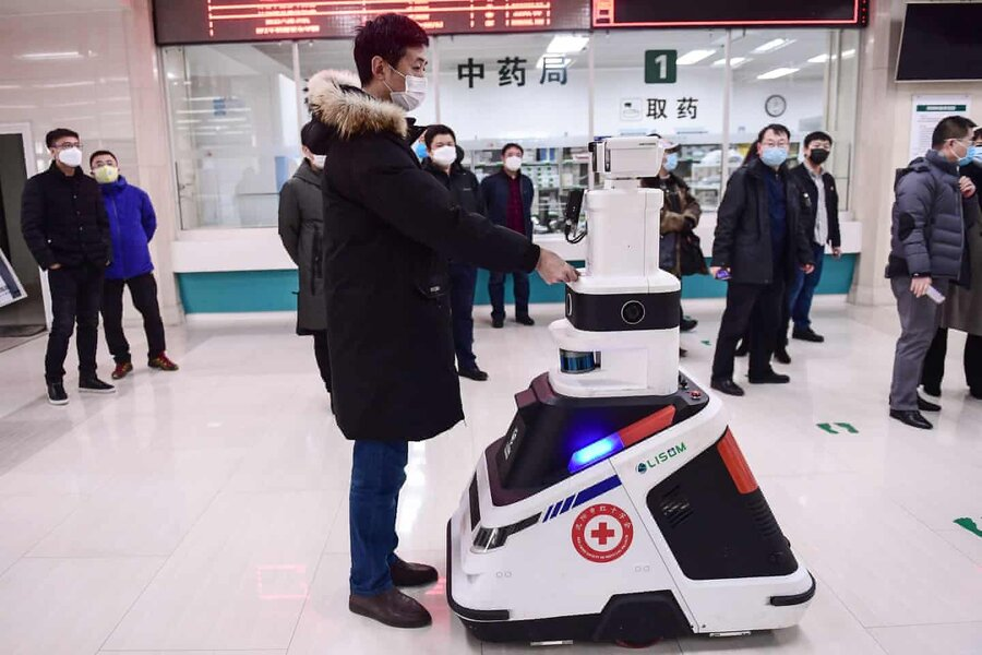 عکس روز  ربات ضد کورونا