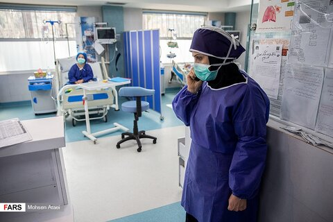 حال و هوای بخش کروناییها در بیمارستان امام خمینی
