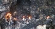 آیین شمع آفروختن و هدیه دادن سبزه به پیرغار در فارسان