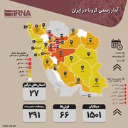 آخرین وضعیت کرونا در ایران؛ ۱۲ اسفند | آمار مبتلایان ۶ استان در حال رشد