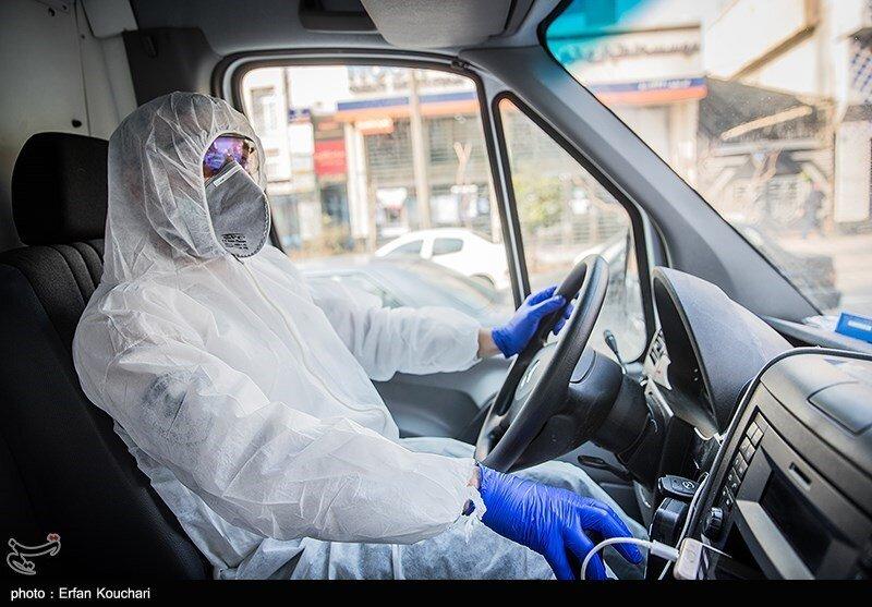 اعزام نیروهای عملیات ویژه اورژانس در تهران برای انتقال بیماران مبتلا به کرونا به مراکز معین