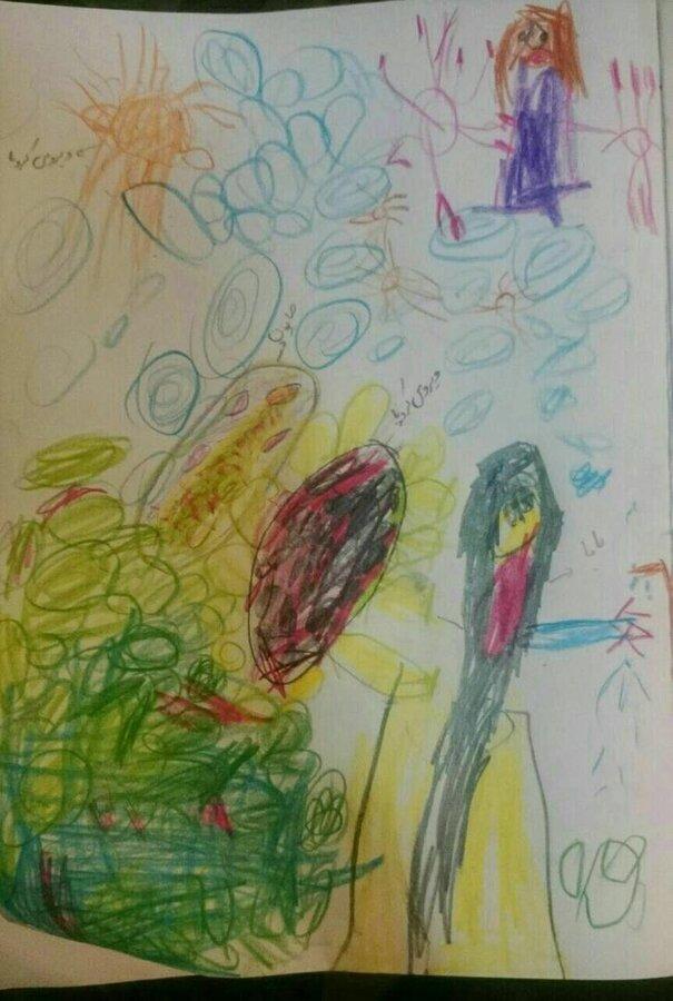 نقاشی کرونا پایه هفتم