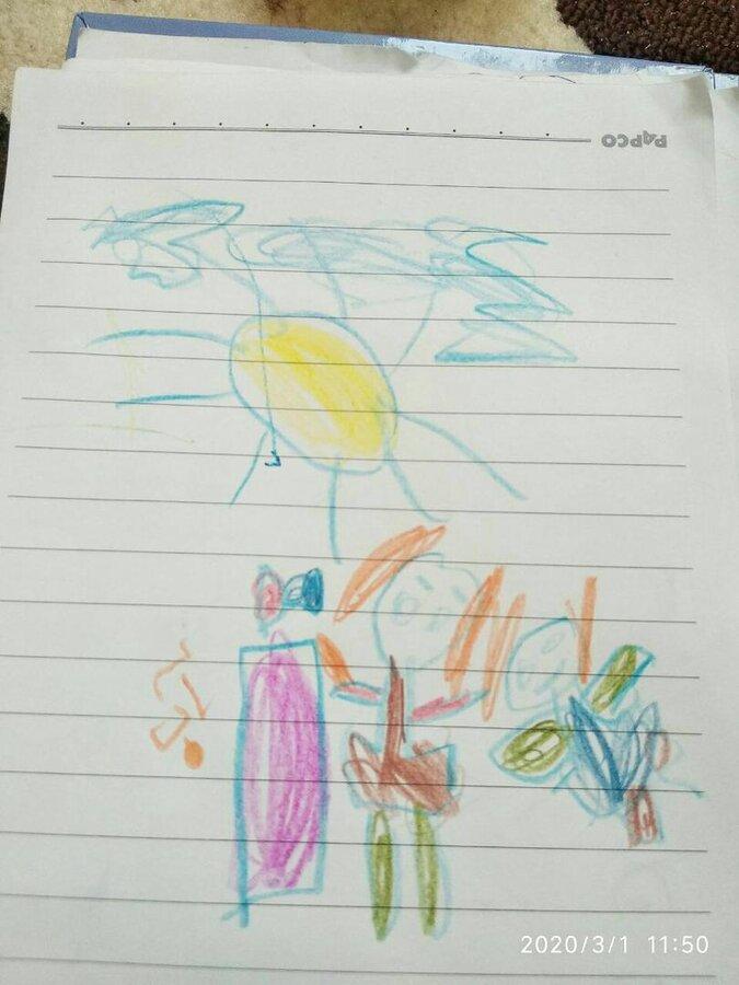 نقاشی کرونا پیش دبستانی
