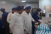 تولید شبانهروزی مواد ضدعفونی و ماسک در گلستان