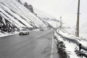بارش برف بهاری ارتفاعات گلستان را سفیدپوش کرد | تردد با زنجیرچرخ