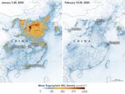 چین بعد از کورونا از فضا | پاک شدن سریعتر هوا به علت تعطیلیها
