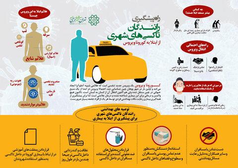 راه پيشگيري از ابتلا به كرونا براي رانندگان تاكسي