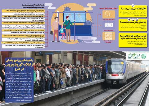 راههاي پيشگيري از ابتلا به كرونا در هنگام استفاده از مترو