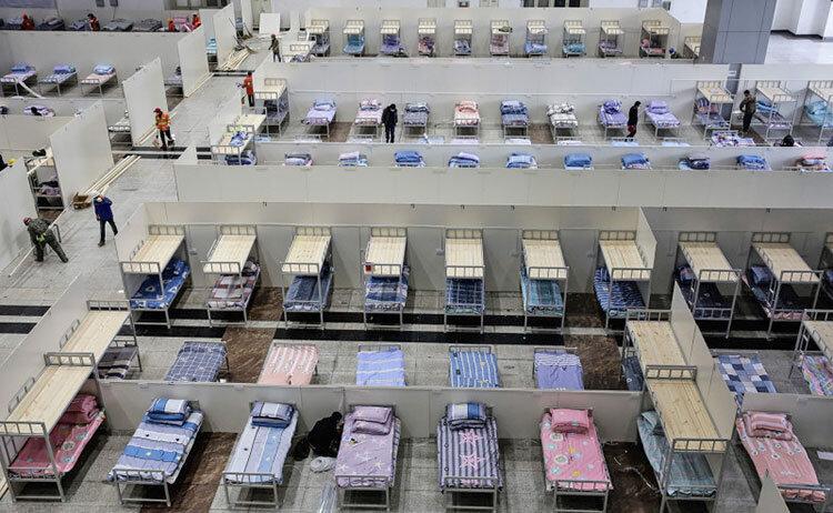 تعطیلی بیمارستان صحرایی در ووهان