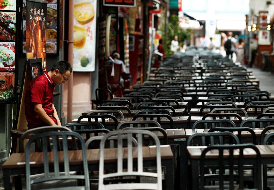 رستوران های خالی در سنگاپور