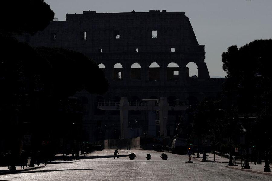 خیابان های خالی رم