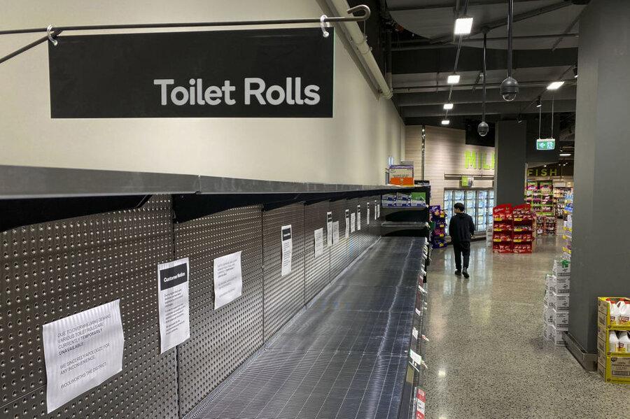 سوپرمارکت خالی در ملبورن