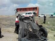 واژگونی خودرو در جاده مهریز | ۲ نفر کشته و ۶ نفر مجروح شدند