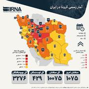 آمار رسمی کرونا در ایران | یک استان دیگر قرمز شد