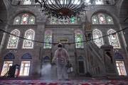 عکس روز| ضدعفونی مسجد در استانبول