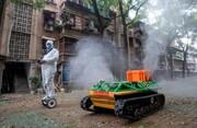 عکس روز| روبات ضد عفونیکننده