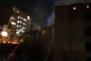 """آتشسوزی گسترده در بیمارستان تاریخی """"مسیح"""" کرمانشاه"""