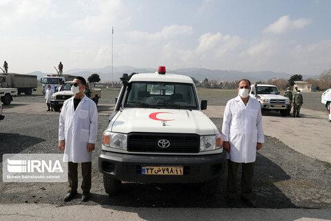 تصاویر رزمایش ارتش در مشهد برای مبارزه با شیوع کرونا