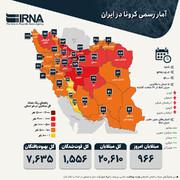 آخرین آمار رسمی کرونا در ایران | ۵ استان با بیشترین ابتلا