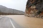 سیلاب سه مسیر در جنوب سیستان و بلوچستان را بست