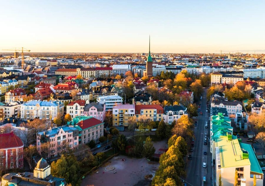 نمایی از هلسینکی پایتخت فنلاند