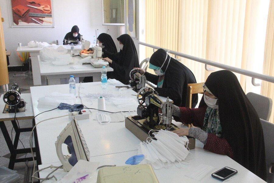 قرارگاه جهادی حضرت زینب و تولید ماسک منطقه 15