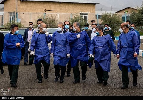 تصاویر سان دیدن لاریجانی و سلامی از رزمایش دفاع بیولوژیک