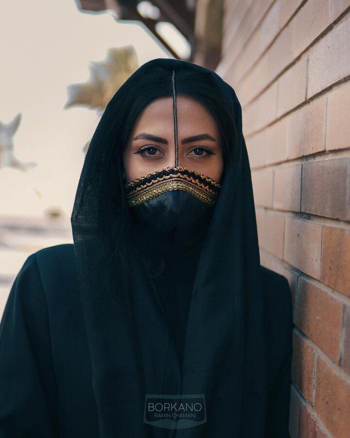 برقع - هرمزگان - ماسک - کرونا