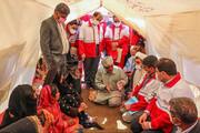 تصویر | اسکان موقت سیلزدگان در روستای تکلحسن