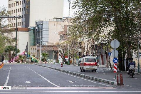 تصاویر خیابانهای خلوت تهران