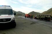 ۱۰ مصدوم و یک کشته در حادثه برخورد مینیبوس و زانتیا