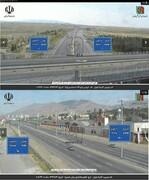 عکس   خلوتی بیسابقه آزادراه تهران - قم و تهران - کرج