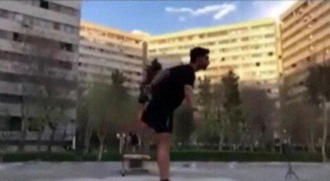 قرار ورزشی اهالی اکباتان  از پشت شیشههای شفاف +فیلم