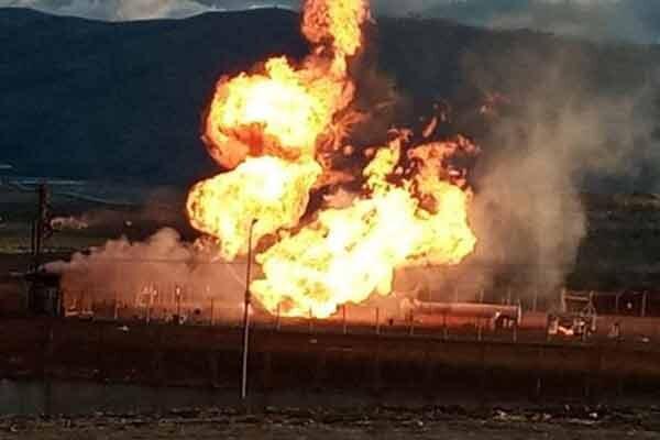 انفجار گاز خط لوله