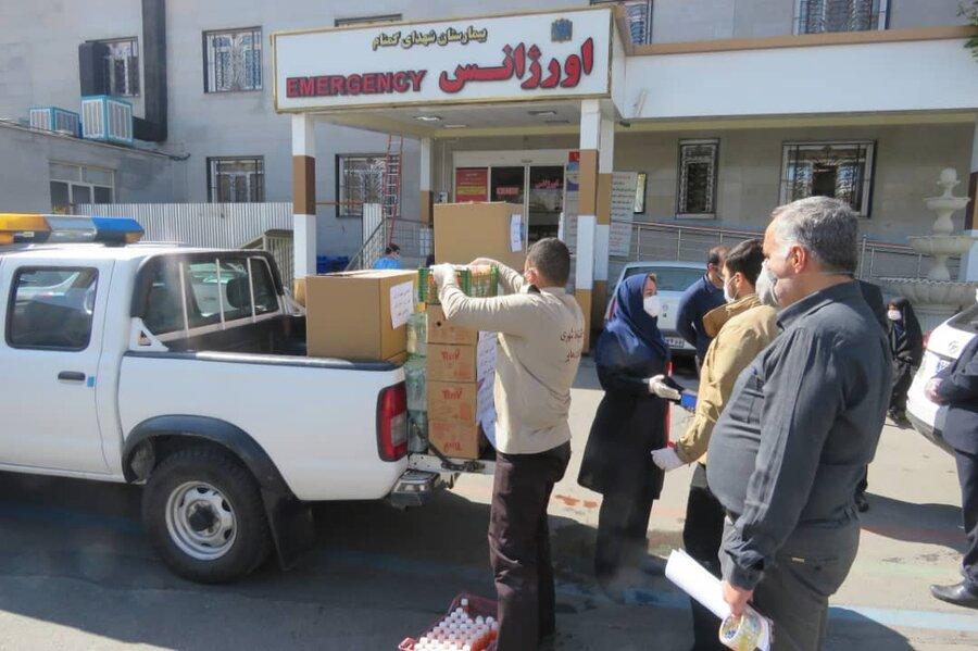 اهدا اقلام بهداشتی به بیمارستان شهدای گمنام منطقه 15