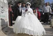 عکس روز | عروسی در زمانه کرونا