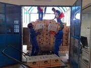 ارسال ۳ کامیون مواد غذایی از رابر به مناطق سیلزده جنوب کرمان